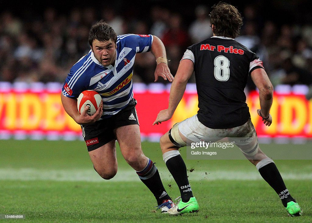 Western Province prop Frans Malherbe in action during the Absa Currie Cup final match between The Sharks and DHL Western Province from Mr Price KINGS PARK on October 27, 2012 in Durban, South Africa.