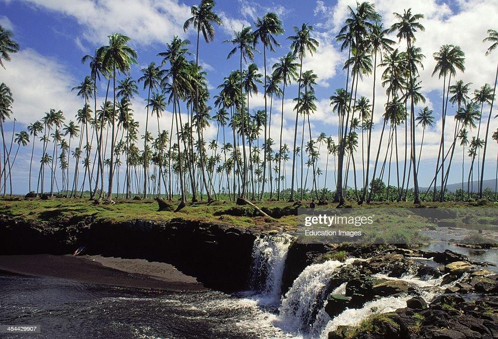 Western Samoa Island Of Savai'I Black Sand Beaches