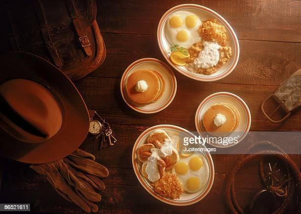 Western setting breakfast