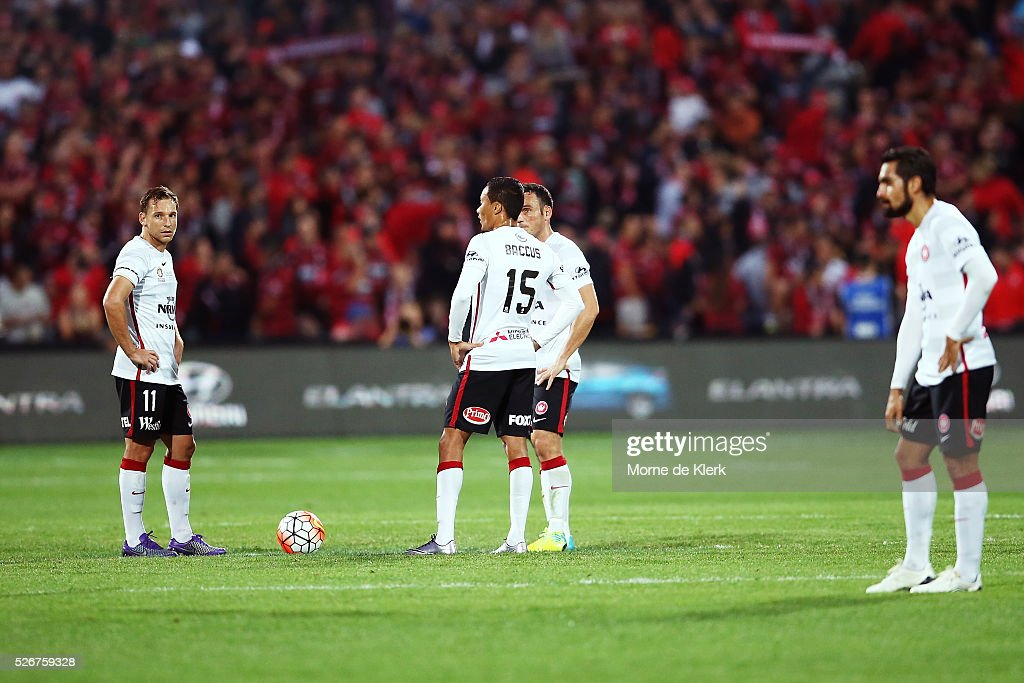 Western Sydney players look on after the 2015/16 A-League Grand Final match between Adelaide United and the Western Sydney Wanderers at the Adelaide Oval on May 1, 2016 in Adelaide, Australia.