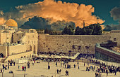 Western Wall in Jerusalem is a major Jewish sacred place