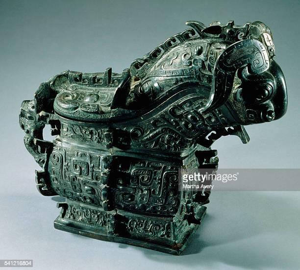 Western Zhou Dynasty Bronze RamHeaded Gong