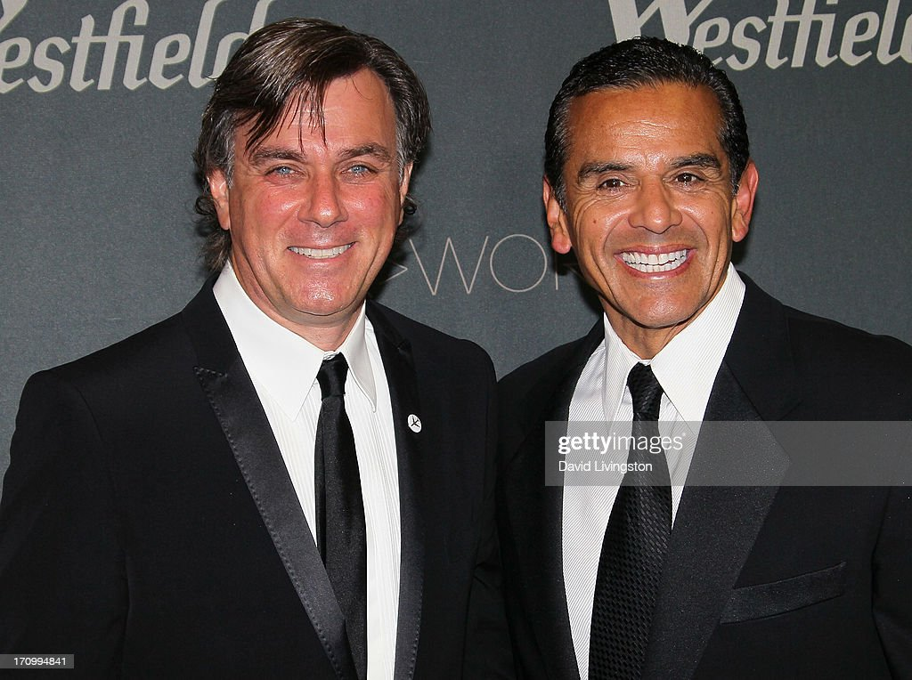 Westfield Group Co-CEO Peter Lowy (L) and Los Angeles Mayor Antonio Villaraigosa attend the grand opening of the new Tom Bradley International Terminal at LAX Airport presented by Los Angeles World Airports (LAWA) and Westfield on June 20, 2013 in Los Angeles, California.