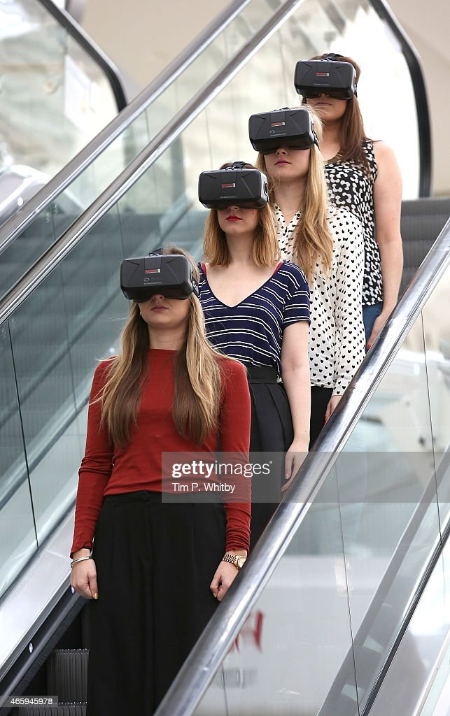 Westfield introduces world first Oculus Rift Virtual Reality headsets ahead of 'Future Fashion' an immersive popup experience at Westfield London on...