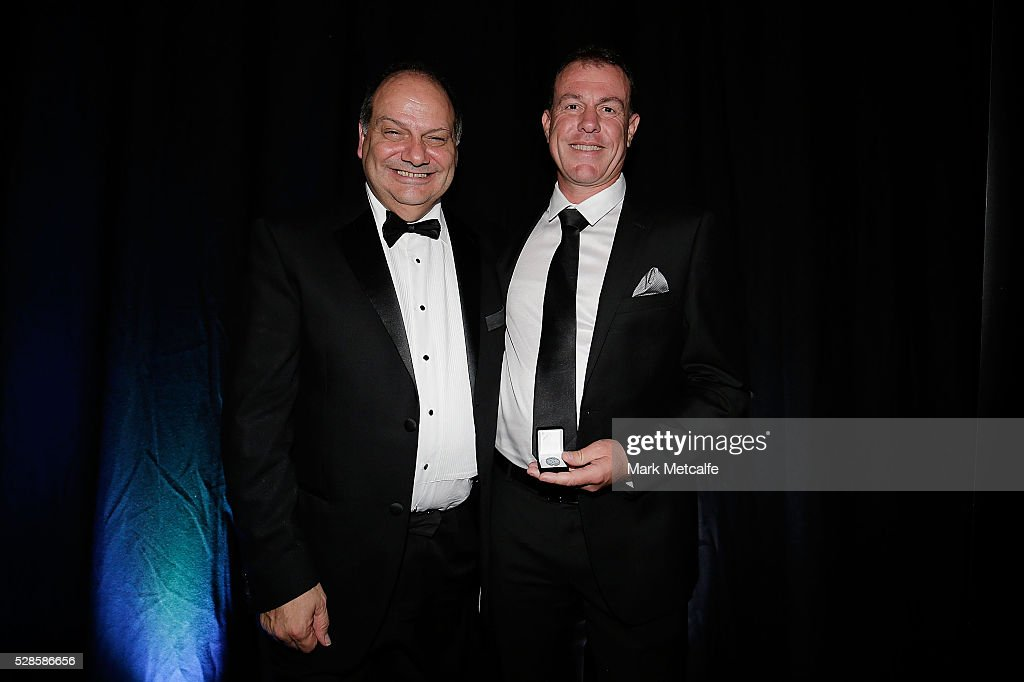 Westfield Matildas Head Coach Alen Stajcic poses after becaming the ninth inductee into Sydney FC's Hall of Fame during the Sydney FC Sky Blue Ball at the Sydney Cricket Ground on May 6, 2016 in Sydney, Australia.