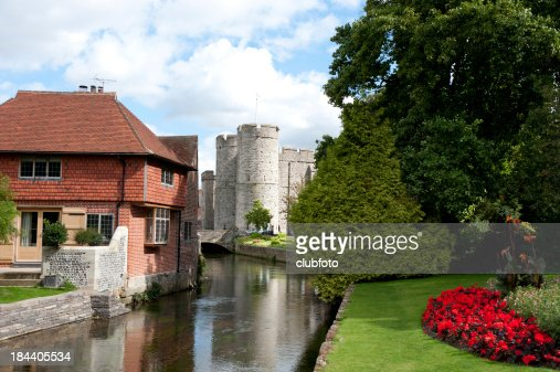 'Westgate Tower and the River Stour, Canterbury, UK'