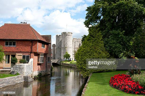 Westgate Tower and the River Stour, Canterbury, UK
