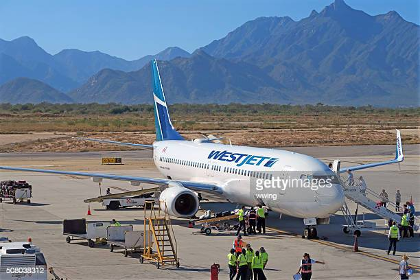 Westjet  737 at the gate- San Jose Del Cabo