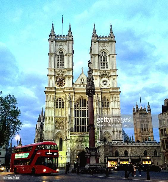 Westminster Abbey Against Cloudy Sky