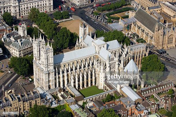 Westminster Abbey London 2006 Aerial view Artist Historic England Staff Photographer