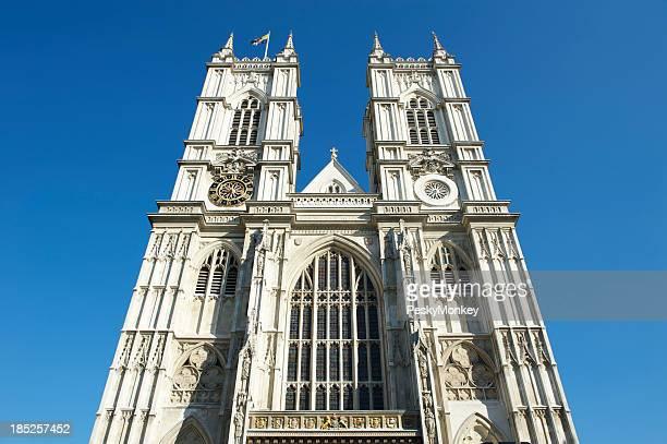 Westminster Abbey London Bright Blue Sky