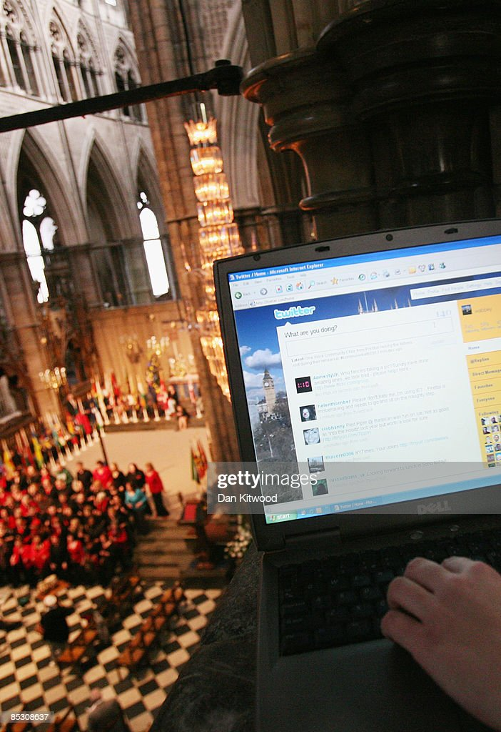 Westminster Abbey's online editor Imogen Levy uses the micro blog site, 'Twitter' inside Westminster Abbey ahead of the Commonwealth Observance on March 9, 2009 in London, England. It will be the first time such a site has been used to cover a royal event. The event which will be attended by Queen Elizabeth II, will mark the 60th anniversary of the modern commonwealth and is celebrated across the member countries.