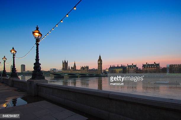 Westminster  at dawn, London, England, UK