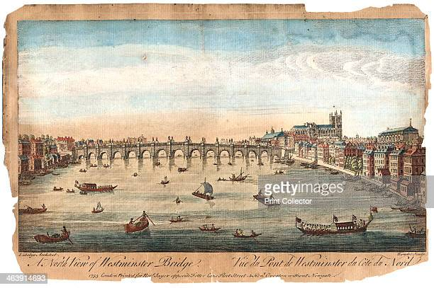 Westminster Bridge London 1753 Westminster Abbey is on the right At this date the Thames was a busy city thoroughfare as can be seen from the amount...