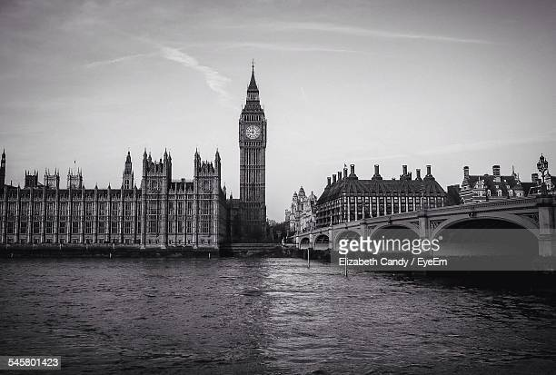 Westminster Bridge With Big Ben And Houses Of Parliament
