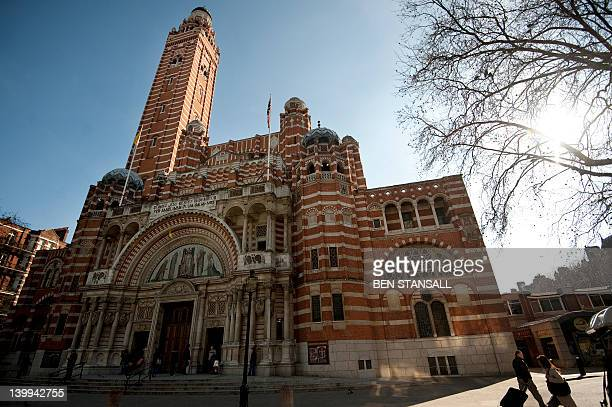 Westminster Cathedral is seen in central London on February 26 2012 AFP PHOTO/BEN STANSALL
