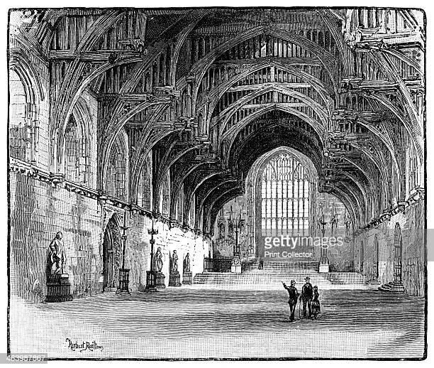 Westminster Hall London 1900 Interior of Westminster Hall Houses of Parliament Originally a Norman building constructed between 10971099 Westminster...