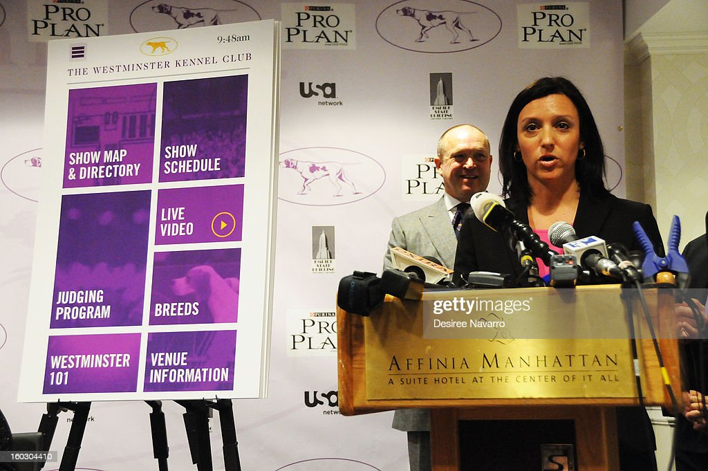 Westminster Kennel Club Manager of Corporate Relations, Kelly Morra attends The Westminster Kennel Club 137th Annual Dog Show - Press Conference at Affinia on January 28, 2013 in New York City.