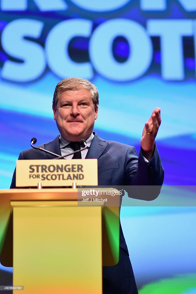 Westminster leader Angus Robertson addresses to the 81st annual conference at the Aberdeen Exhibition and Conference Centre on October 15, 2015 in Aberdeen,Scotland. SNP hold their first conference this week since the landslide victory in the May 2015 general election.
