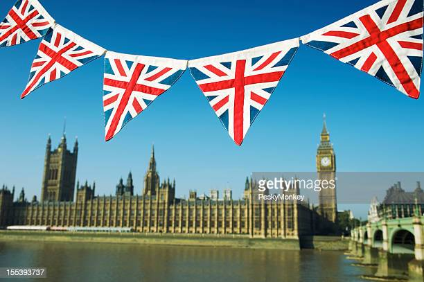 Westminster Palace with Union Jack Bunting
