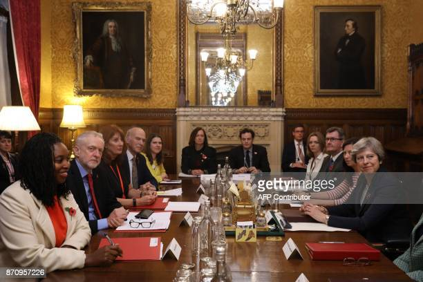 Westminster party leaders and politicians including Labour MP Dawn Butler Britain's opposition Labour Party Leader Jeremy Corbyn Labour chief of...