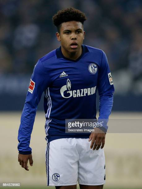 Weston Mckennie of Schalke 04 during the German Bundesliga match between Schalke 04 v 1 FC Koln at the Veltins Arena on December 2 2017 in...
