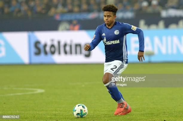 Weston McKennie of Schalke in action during the Bundesliga match between FC Schalke 04 and 1 FC Koeln Bundesliga at VeltinsArena on December 2 2017...
