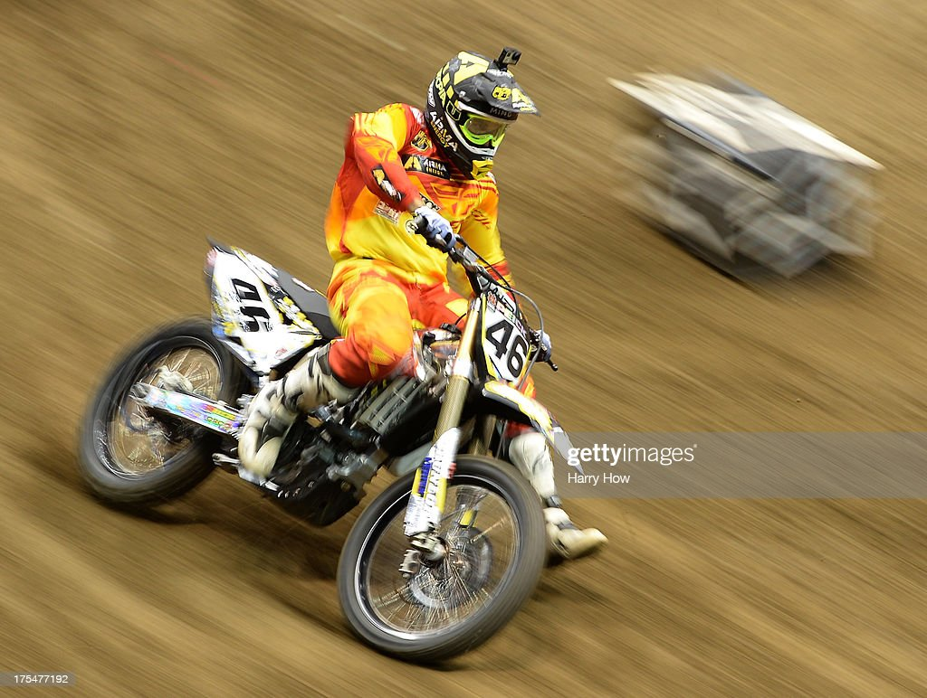 Weston Peick competes in the Men's Moto X Racing during X Games Los Angeles at Staples Center on August 3, 2013 in Los Angeles, California.