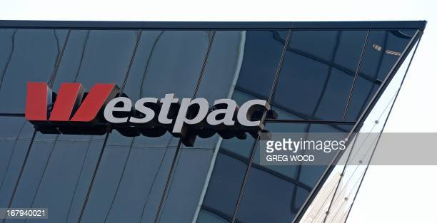 Westpac Bank signage is shown on a building in central Sydney on May 3 2013 Australian banking giant Westpac on May 3 reported a betterthanexpected...