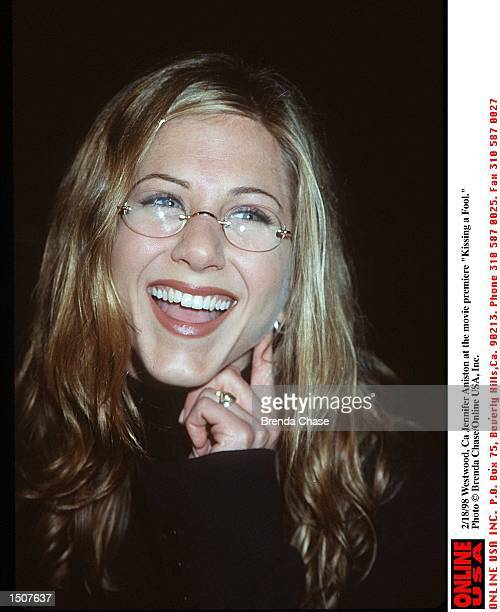 Westwood Ca Jennifer Aniston at the movie premiere of 'Kissing a Fool'