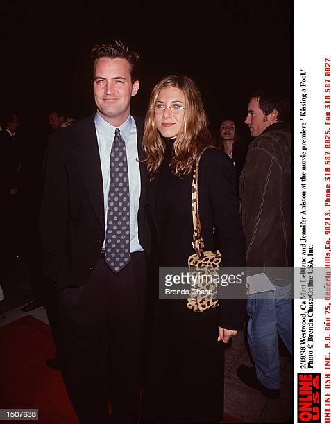 Westwood Ca Matt LeBlanc and Jennifer Aniston at the movie premiere of 'Kissing a Fool'