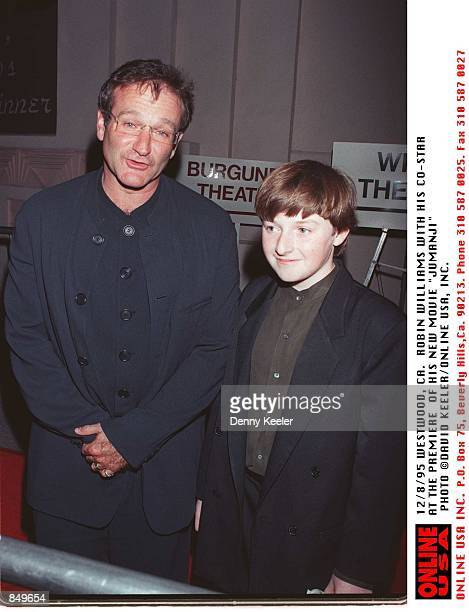 Westwood CA Robin Williams at the premiere of his new movie 'Jumanji'