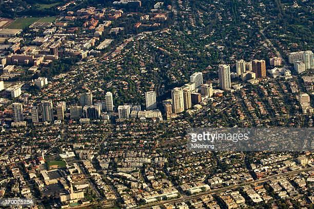Westwood, Los Angeles, California, aerial view