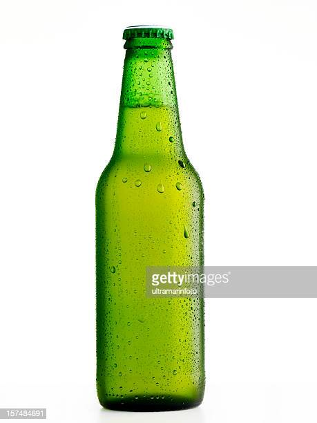 Wet beer bottle
