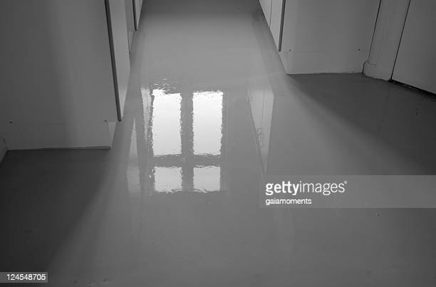 Wet Concrete Floor