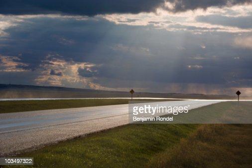 Wet highway : Foto de stock