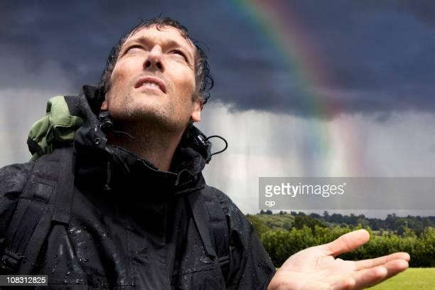 Wet Wanderschuh mit Regenbogen