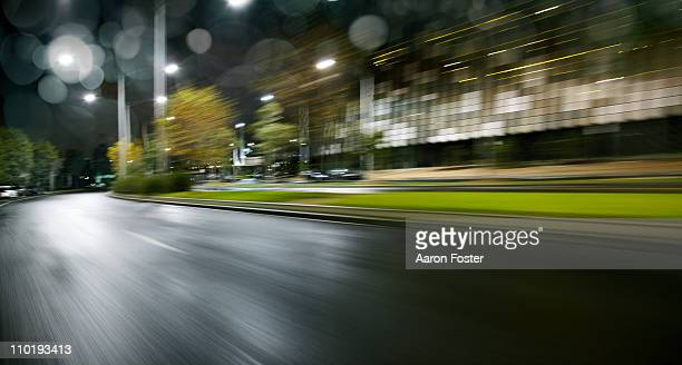 Wet night City Street