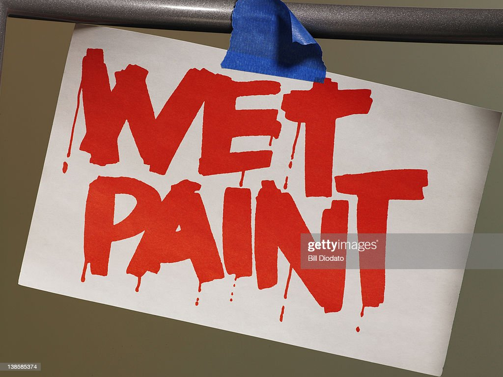 Wet Paint Sign : Stock Photo