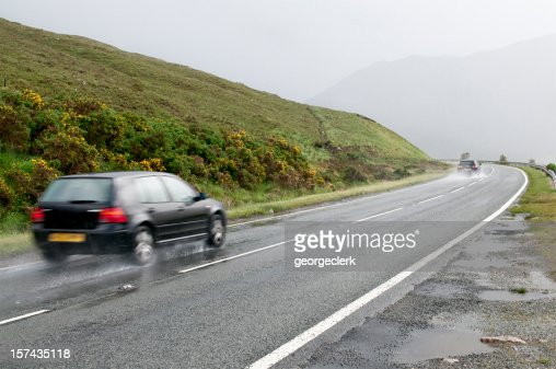 Wet Rural Drive
