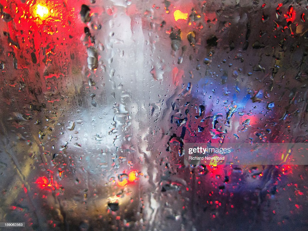 Wet Weather Driving : Stock Photo