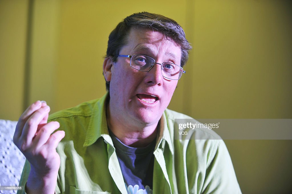 Weta Workshop Chief Sir Richard Taylor talks to the media during a press conference before the 3rd Beijing International Film Festival on April 15, 2013 in Beijing, China.