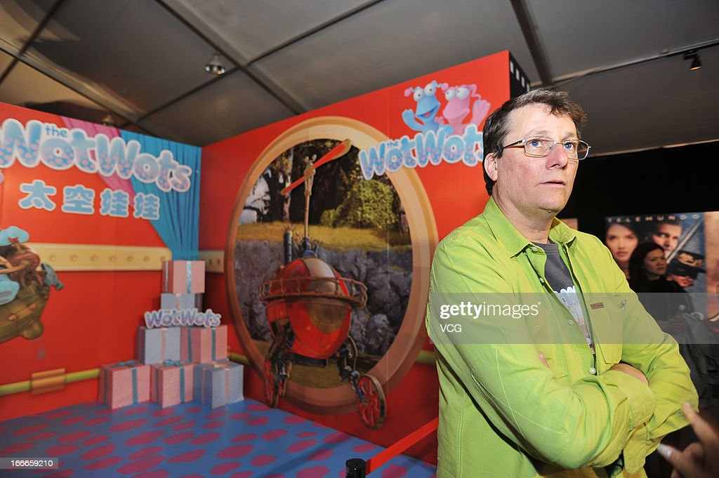 Weta Workshop Chief Sir Richard Taylor visits the main site for the film carnival, performance screening area, at Olympic Center before the 3rd Beijing International Film Festival on April 15, 2013 in Beijing, China.