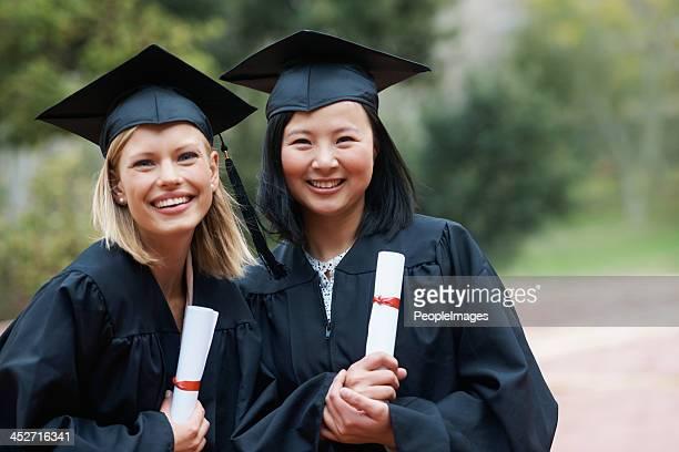 We've finally graduated!
