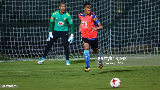Weverson of Brazil in action during the training session ahead of the FIFA U17 World Cup India 2017 tournament at Kolkata 2 Training Centre on...