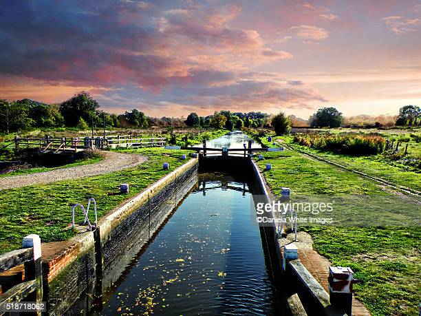 Wey Canal at twilight , Guildford