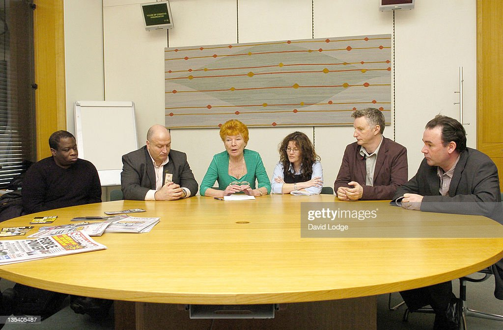 Weyan Bennett, Bob Crow, Mary Turner, Jennie Bremner, Billy Bragg and John Cruddas MP