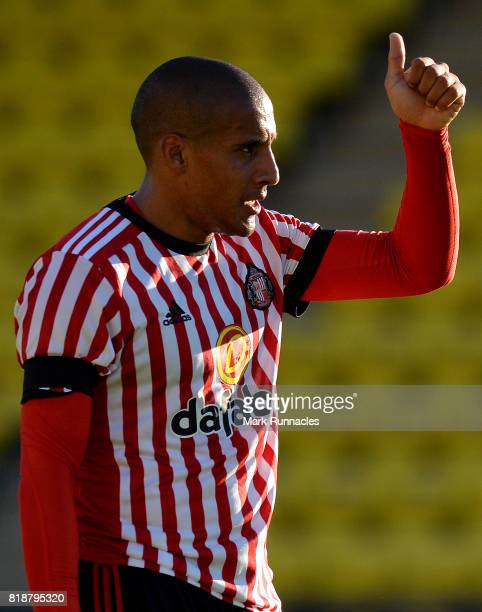 Whabi Khazri of Sunderland in action during the pre season friendly between Livingston and Sunderland at Almondvale Stadium on July 12 2017 in...