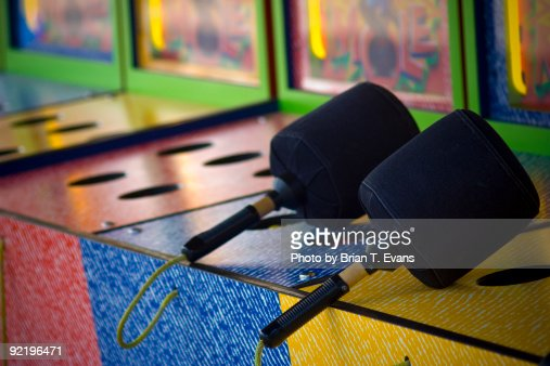Whack a Mole Mallets : Stock Photo