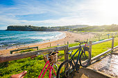 Panorama of Whale Beach, Sydney - Australia.